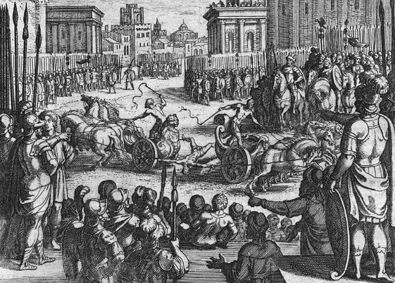 Verurteilter Römer wird öffentlich gevierteilt