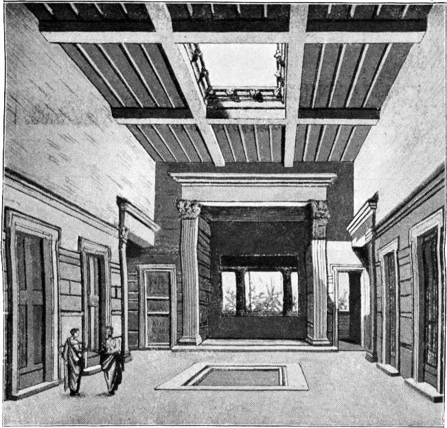 Das Atrium eines pompejanischen Hauses