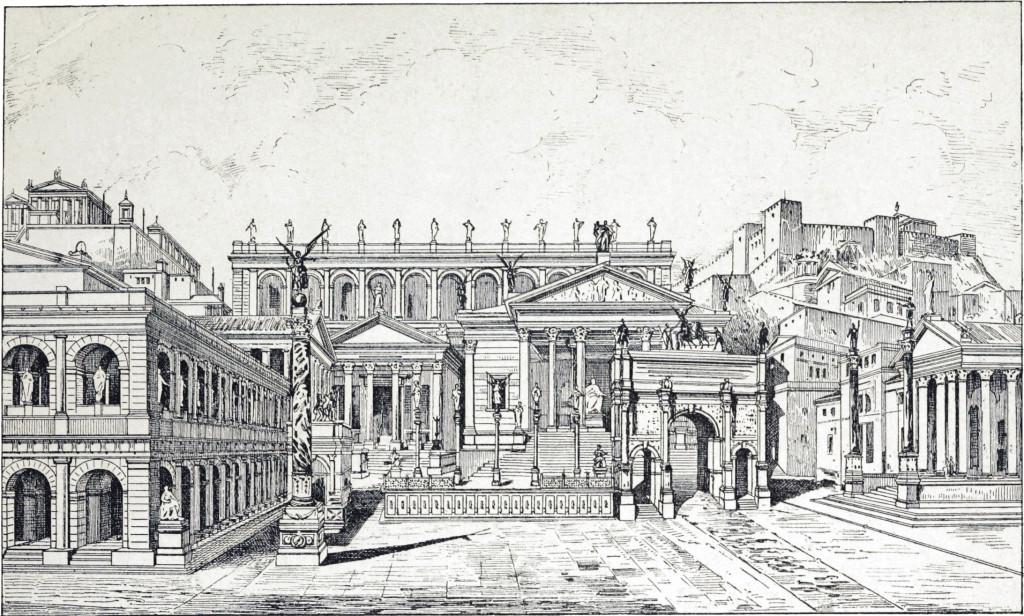 Das Forum Romanum in Rom ist das älteste römische Forum und war Mittelpunkt des politischen, wirtschaftlichen, kulturellen und religiösen Lebens.