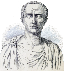 Gaius Iulius Caesar (zu deutsch auch: Gaius Julius Cäsar; * 13. Juli 100 v. Chr. in Rom; † 15. März 44 v. Chr.)