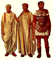 Magistrat - Imperator - General Unterschiede sind an der strengen Kleiderordnung erkenntbar