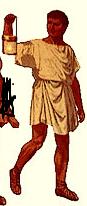Sklave - an der Kleidung erkennbar