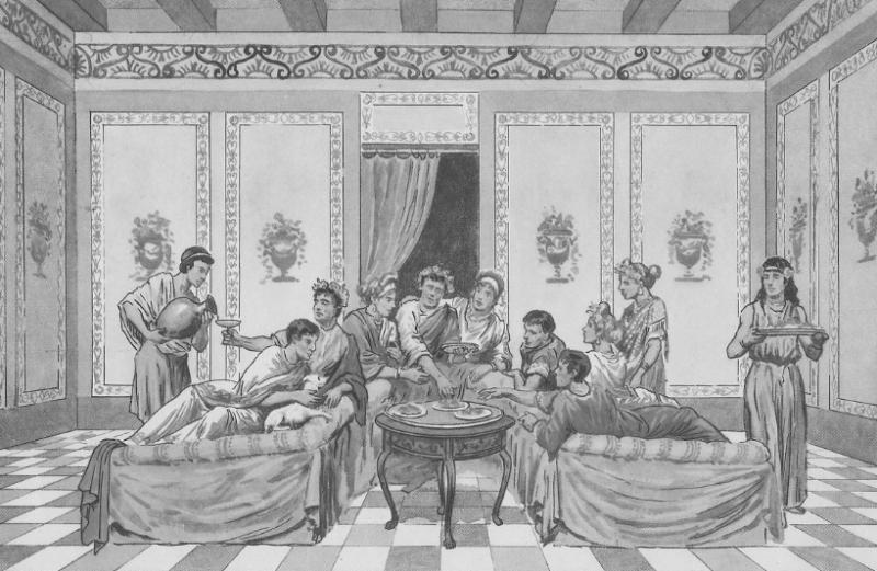 Triclinum - römisches Speisezimmer