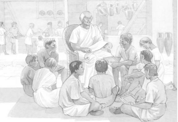 Unterricht römischer Kinder