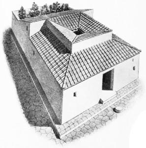 Römisches Haus von außen