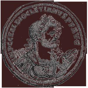 Münze des Diokletian. Diokletian (eigentlich Diocles, altgriechisch Διοκλῆς; vollständiger Name Marcus Aurelius Gaius Valerius Diocletianus) war von 284 bis 305 römischer Kaiser.