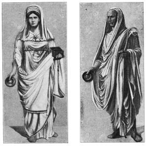 Vestalin (links) und Augur (rechts)